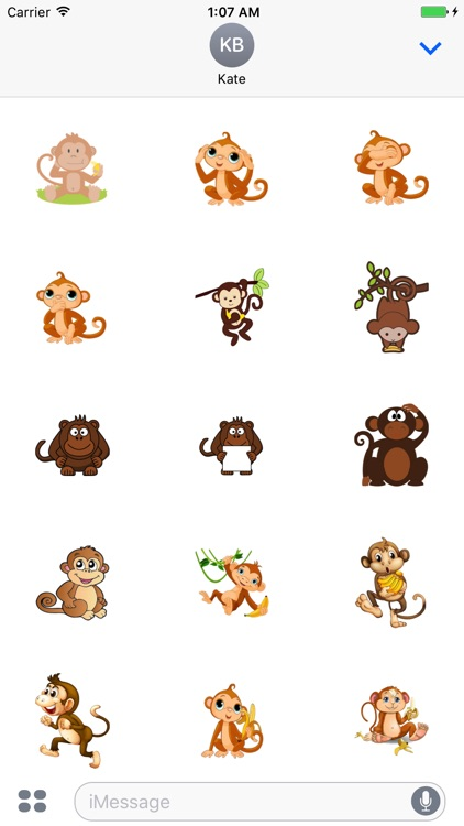 MonkeyCute - Cute Monkey Emoji And Stickers