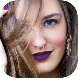 Piercing Photo Editor – False earrings stickers