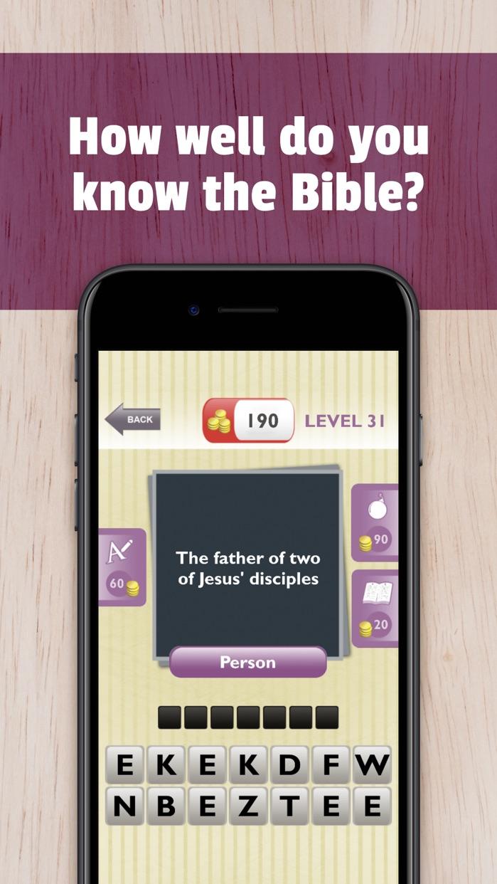 Free Bible Trivia App Game Screenshot