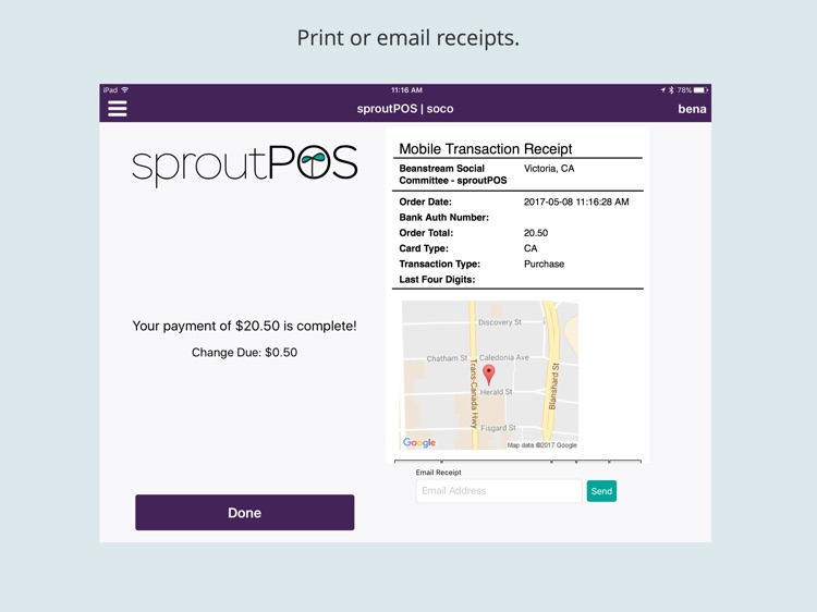 sproutPOS Mobile Point Of Sale for iPad screenshot-3