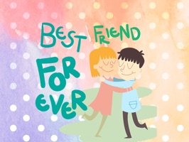 Happy Friendship Forever Photo Stickers