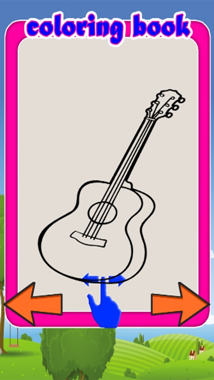 Music Drawing Games Coloring Guitar Pages By Thana Chumnarnchanarn