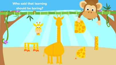 Fun Jungle Animals - Puzzles and Stickers for Kids screenshot two