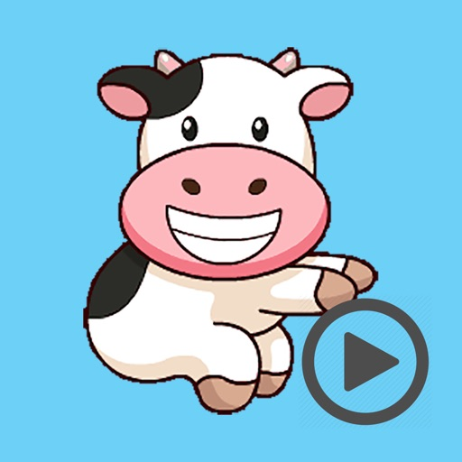 Milk Cow Party Time Animated