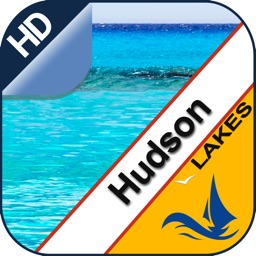 Hudson Lake GPS offline nautical chart for boaters