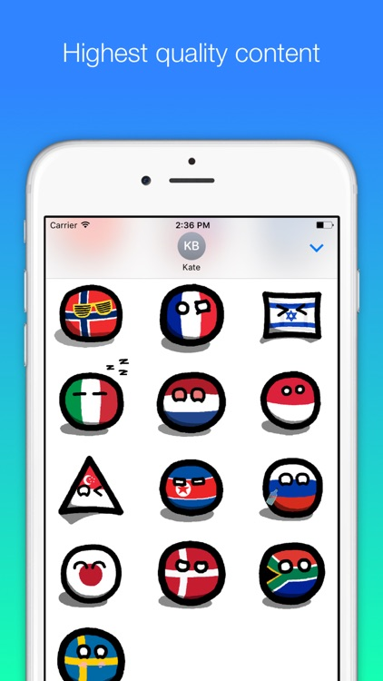 Countryball stickers for iMessage