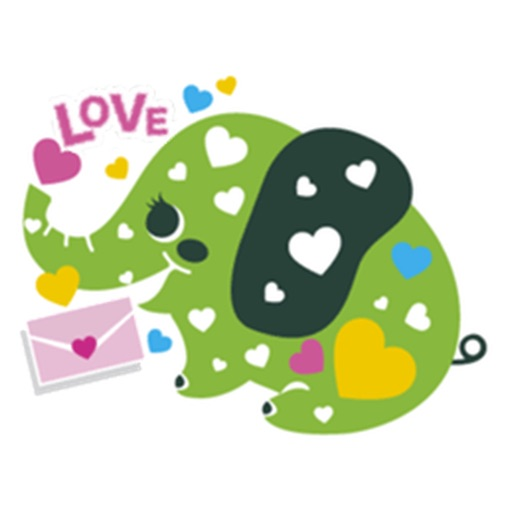 Colorful Elephant Sticker