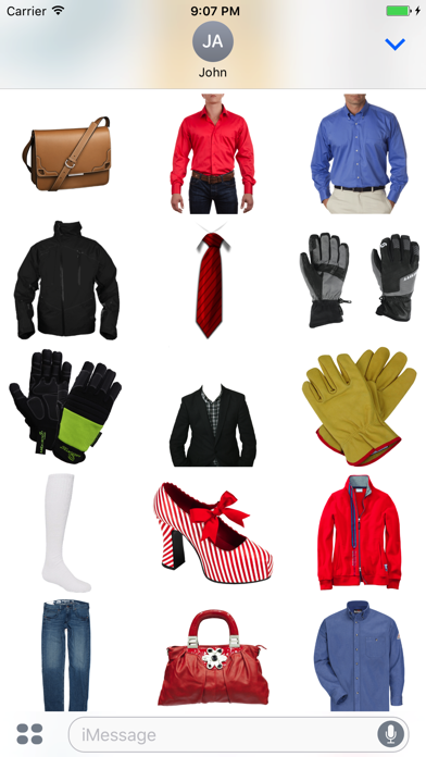Clothing Stickers for iMessage screenshot two