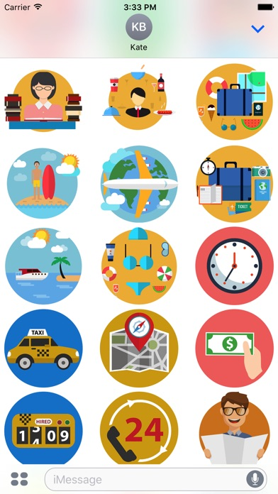 Travel - Stickers Pack for iMessage-4