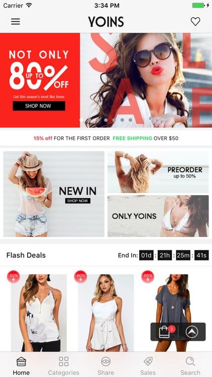 Yoins shopping- Fashion Clothing for Women
