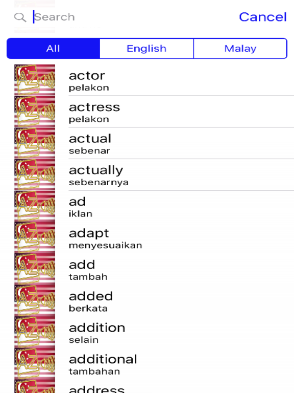 Malay Dictionary GoldEdition screenshot 7