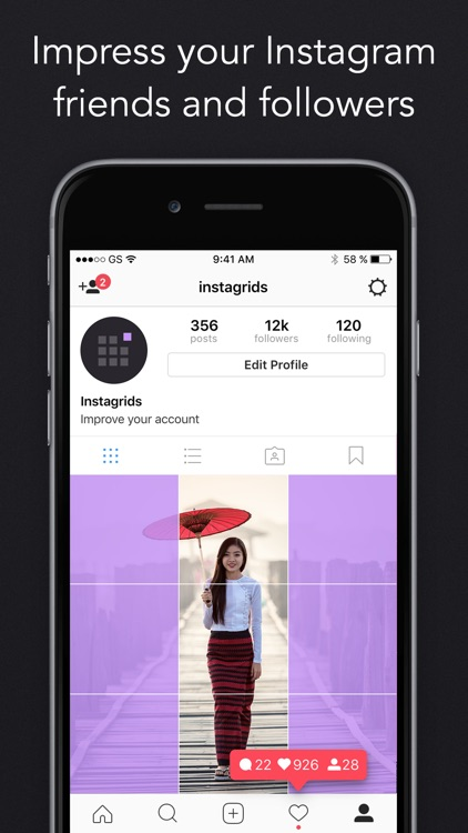 Instagrids - Crop Your Photos For IG Profile View