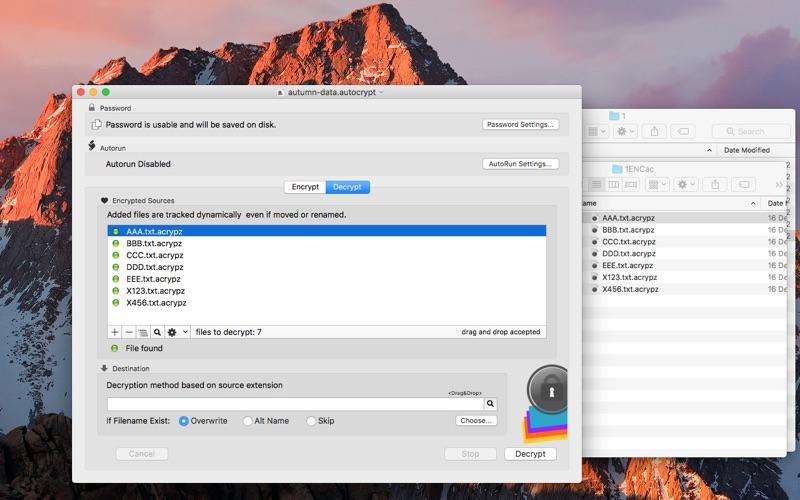 AutoCrypt Screenshots