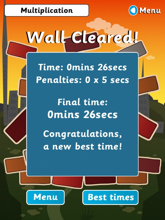 Wipeout Wall for iPad (Multiplication & Division) screenshot-4