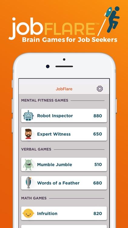 JobFlare: Brain Games for Jobs screenshot-0