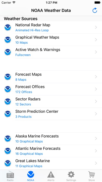 NOAA Weather Radio iPhone