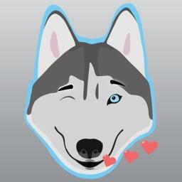 Husky Animated Stickers, Emojis, and Emotes