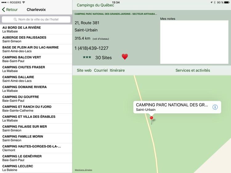 Campings du Québec pour iPad screenshot-3