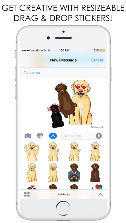 LabMojis - Labrador Retriever Emoji & Stickers