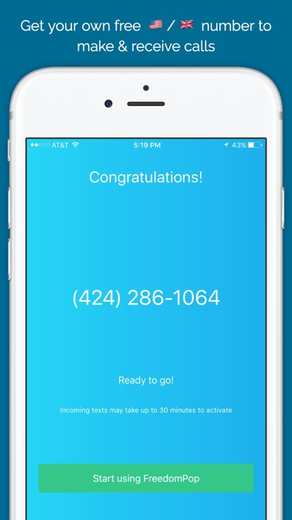 FreedomPop: Calling & Texting screenshot-0