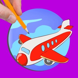 Airplane Drawing Games Coloring Book