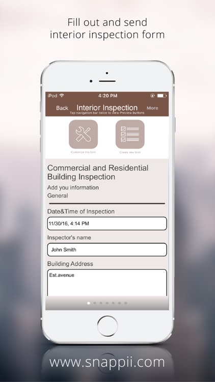 Interior Building Inspection App by Snappii