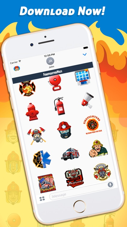FirefighterMoji - Firefighter Emoji Keyboard screenshot-4