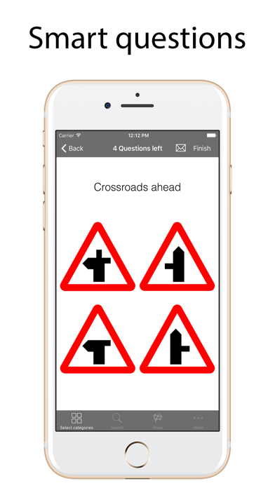 Road Signs Quiz Lite screenshot one