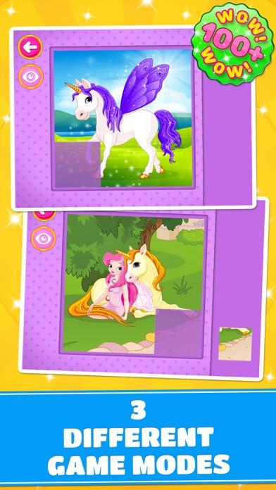 Cute Ponies & Unicorns Puzzles - Logic Game PRO screenshot three