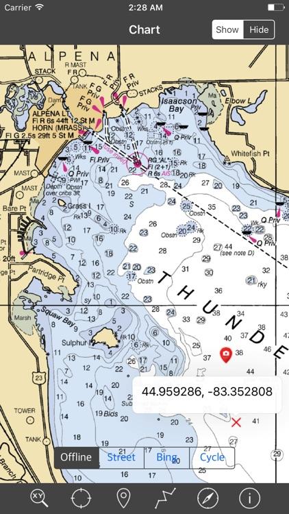 Lakes Huron & Erie – Raster Nautical Charts screenshot-3