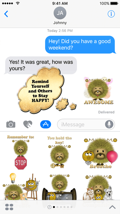 Moodzie and Emoji Sticker Pack For iMessage screenshot two