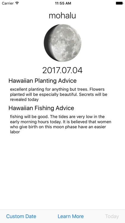 Mahina Hawaiian Moon Calendar