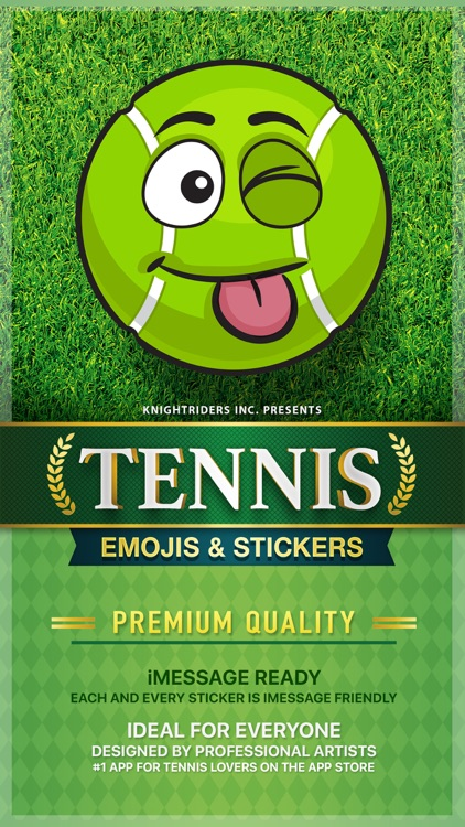 TennisMoji - tennis emoji & stickers keyboard app screenshot-0