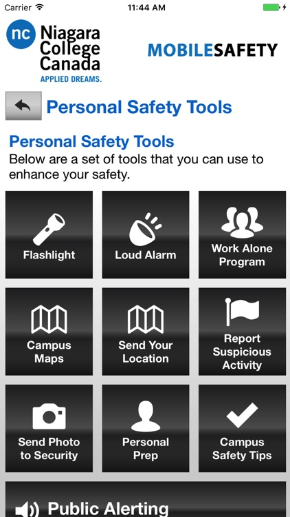 Mobile Safety - Niagara College screenshot-2