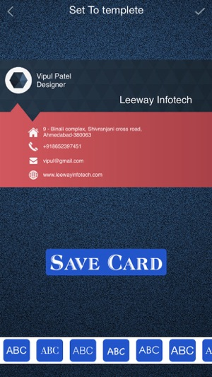 Business card maker design a business card on the app store reheart Choice Image