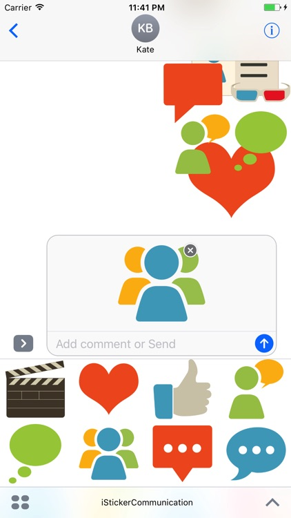 Communication Sticker