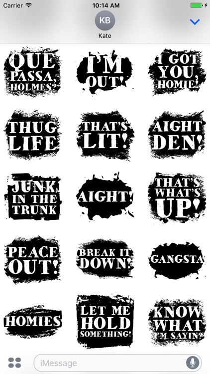 Hip Hop Words Text Sticker Pack screenshot-3