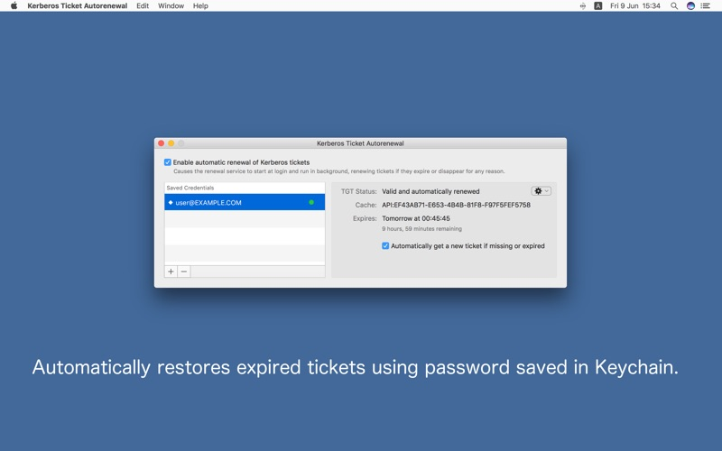 Kerberos Ticket Autorenewal for Mac