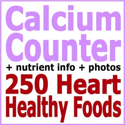 Calcium Counter and Tracker for Healthy Food Diets