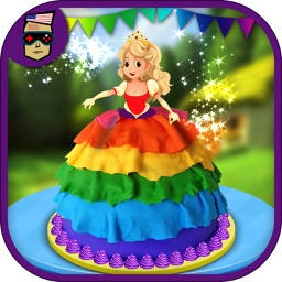 Rainbow Doll Cake Maker-Kids Make Cakes