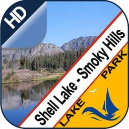 Shell & Smoky offline chart for lake - park trails