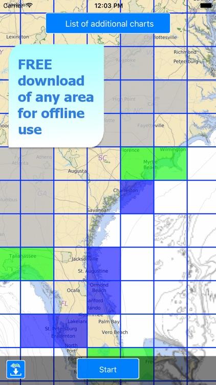 Aqua Map: US - GPS Boating Charts | HD screenshot-4