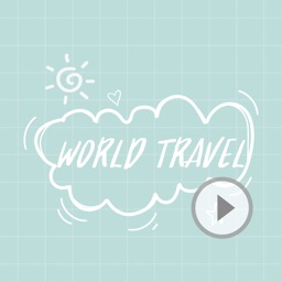 Animated Cute Travel Stickers