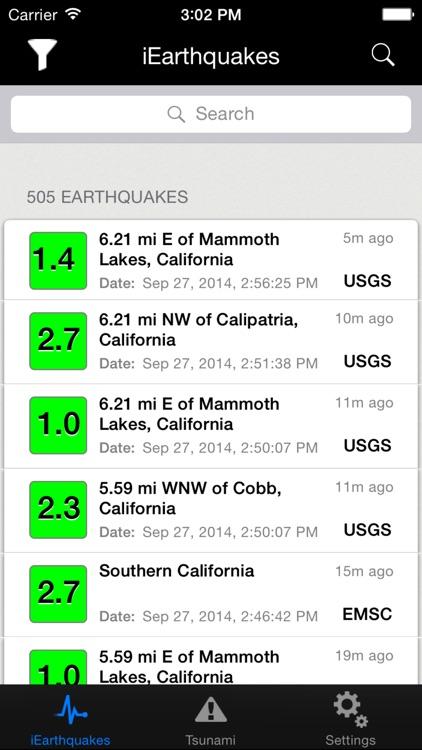 iEarthquakes