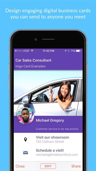 Inigo digital business cards apprecs inigo digital business cards screenshot colourmoves