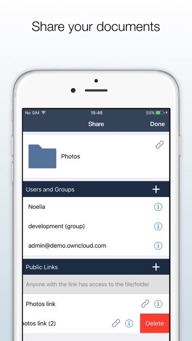 ownCloud Screenshots