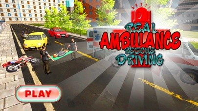 Real Ambulance Rescue Driving - Car Driver Game screenshot one
