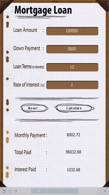 Home Loan Calc HD