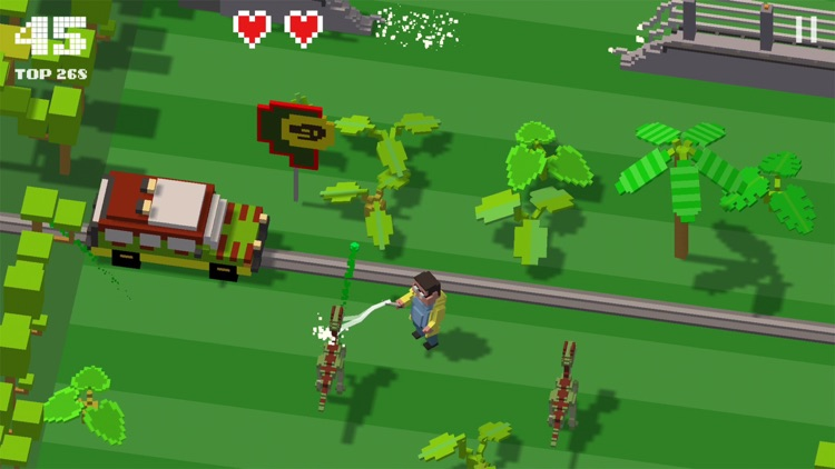 Jurassic Hopper: Crossy Dinosaur Shooter Game screenshot-3