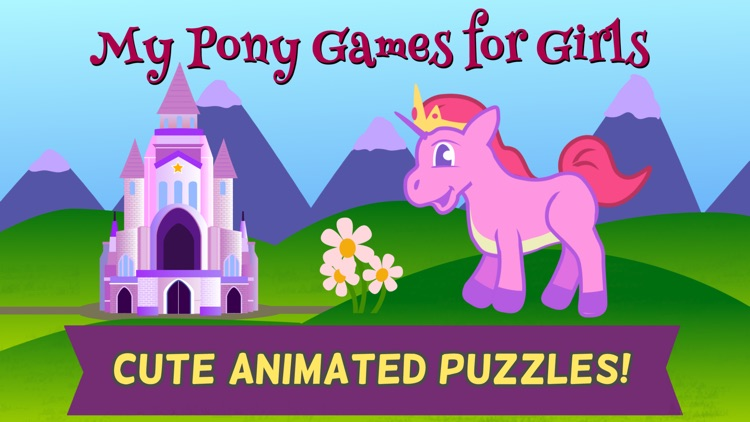 Pony Games for Girls: Little Horse Jigsaw Puzzles screenshot-0